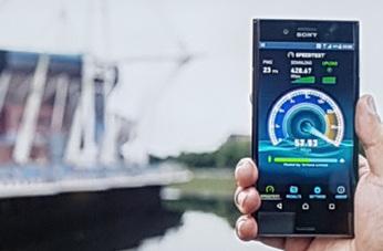 Wembley muestra el potencial de Gigabit LTE con el Sony Xperia XZ Premium.