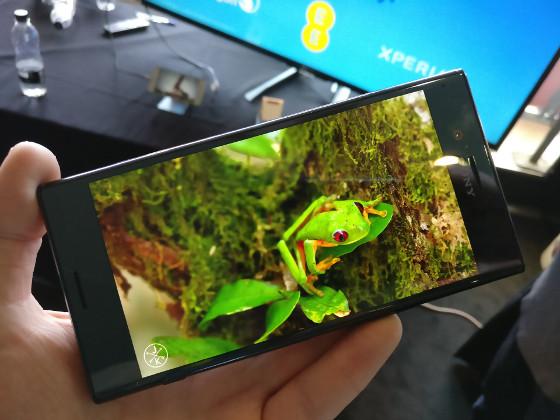 Un teléfono Sony Xperia.