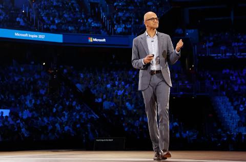 Satya Nadella, CEO de Microsoft, en un Inspire de años anteriores.