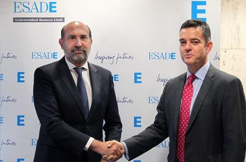 Enrique Verdeguer, Director de ESADE Madrid, y Alvaro Carrillo, DG de ITH y Presidente de la Federacion eAPyme