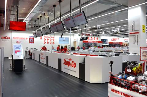 Aspecto de una tienda de MediaMarkt.