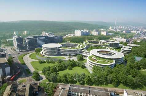 Futuro campus de Eset en Bratislava.