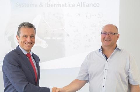 Juan Ignacio Sanz, director general de Ibermática, y Manfred Austen, CEO de Systema