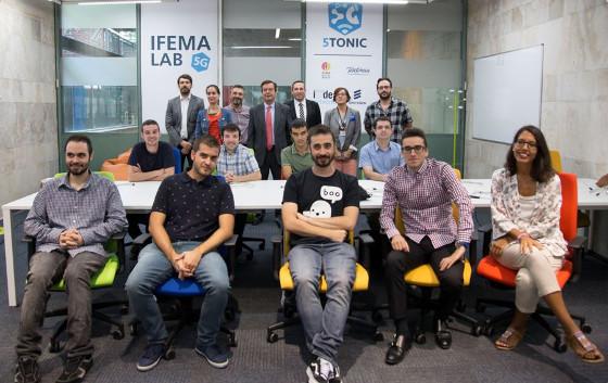 Equipo de trabajo de Ifema Lab 5G.