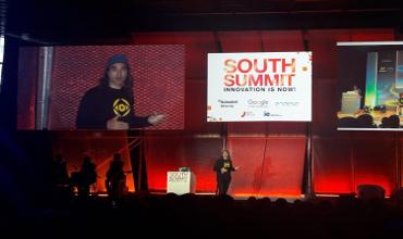 Chema Alonso, CDO de Telefónica durante su intervención en el South Summit