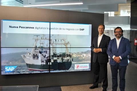 Joao Paulo Da Silva (SAP) e Ignacio Gonzalez (Pescanova)
