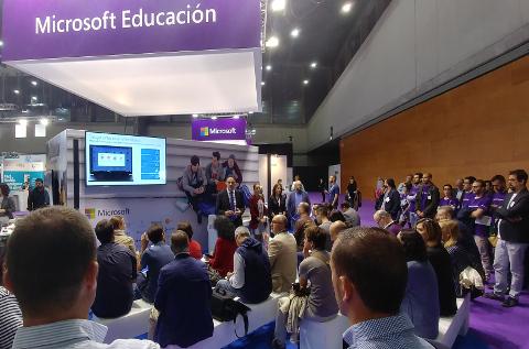 Stand de Microsoft en el Simo Educación de este año.