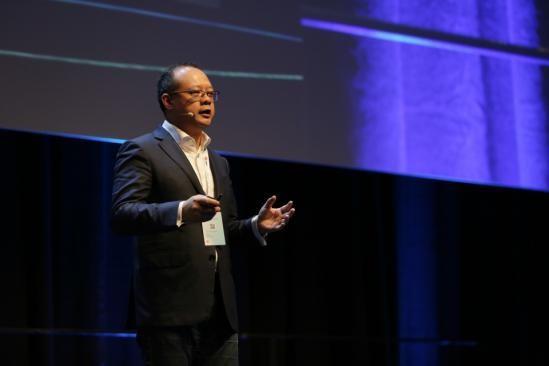 Vincent Pang, presidente de Huawei en Europa Occidental, durante su intervención en el HCE2017.