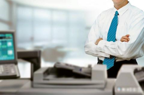 Impresoras en un entorno de oficina.