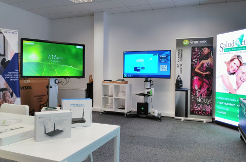 Oficina showroom de Charmex en Portugal.