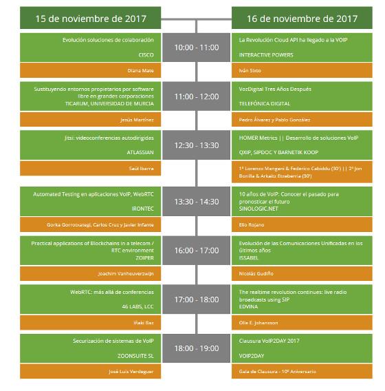 Agenda VoIP2Day 2017.