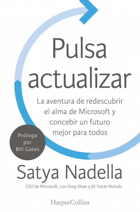 Portada del libro de Satya Nadella.