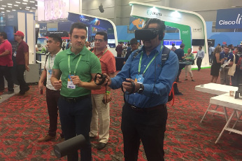 CommScope utiliza realidad virtual para mostrar su solución AIM en Cisco Live! 2017.