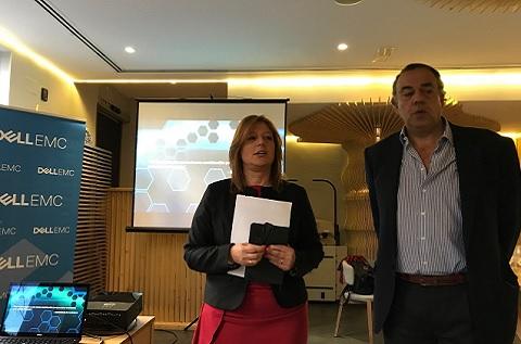 Isabel Reis y Ricardo Labarga, directores generales de Dell EMC en España