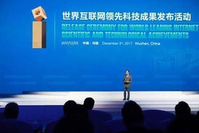 Eric Xu, CEO rotatorio de Huawei, en el discurso de apertura de la WIC 2017.