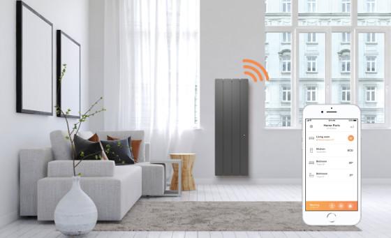 Los radiadores inteligentes calientan el hogar conectado.