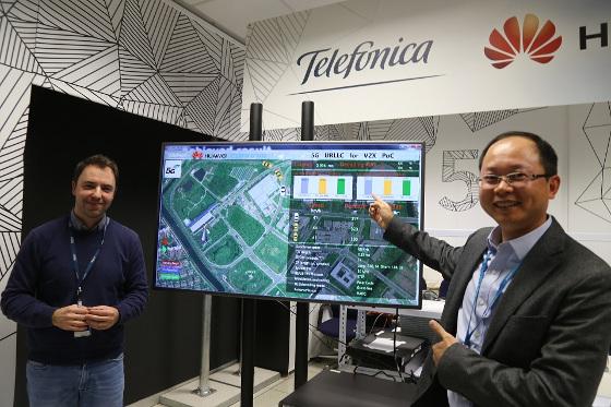 Laboratorio de Innovación 5G Conjunto de Huawei y Telefónica en Madrid.
