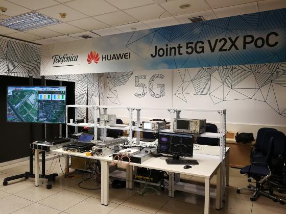 Telefónica y Huawei hacen la primera prueba de concepto en el mundo sobre conducción asistida basada en 5G-V2X.