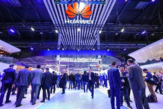 Stand de Huawei en el MWC 2018.