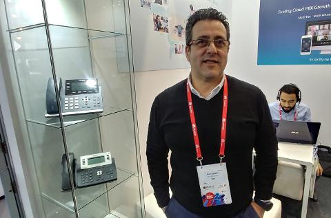 José San Emeterio, director general de SPC, en un momento del MWC 2018.