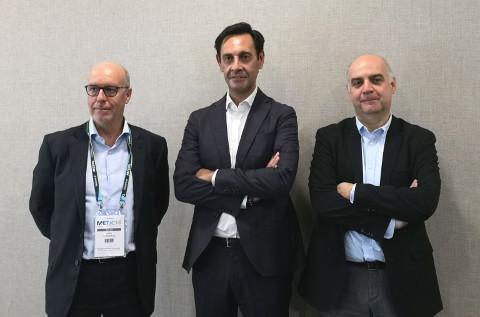De izquierda a derecha: Oriol Cornudella, Santiago Méndez y Pauli Amat, directivos de Tech Data en España.