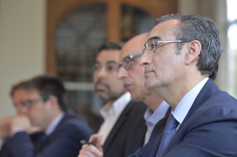 En primer plano, José María García (Esprinet), en el encuentro del Ranking Canal TIC.