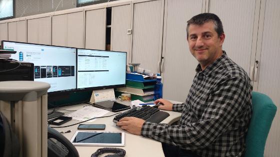 Joan Sarola, Responsable de Sistemas de Hermes Comunicacions.
