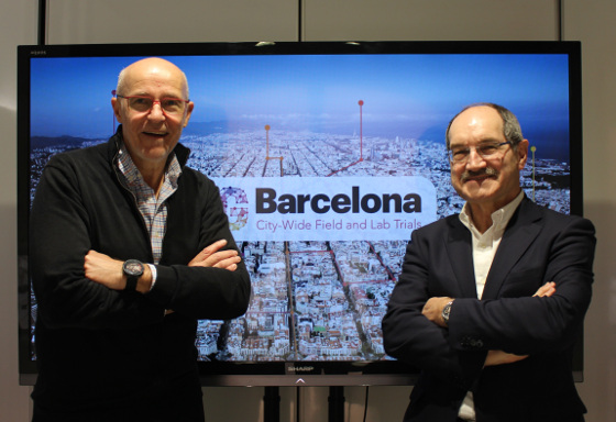 Carlos Grau, director general de Mobile World Capital Barcelona, y Pedro Mier, presidente de Ametic.