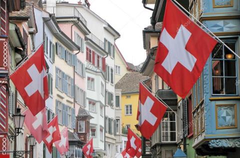 Calle del casco viejo de Zurich.