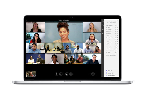 La aplicación de Lifesize también se usa en portátiles y en smartphones y tablets fuera de la oficina