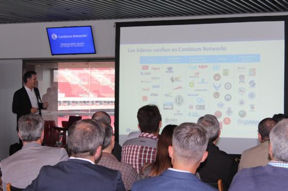 Martín de la Serna, vicepresidente de EMEA de Cambium Networks, durante el evento WirelessFABRIC Madrid – Es tiempo de Cambium