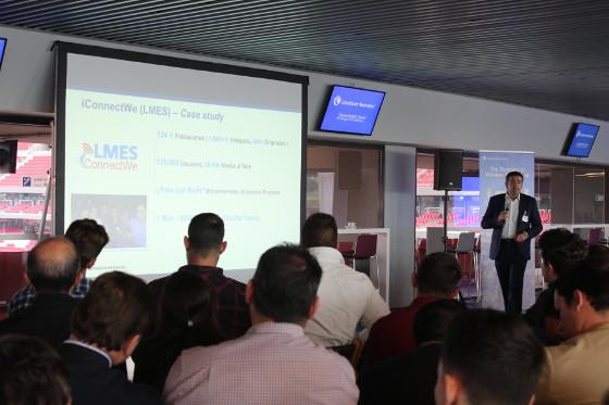 Javier Gómez, director regional de Iberia y Mediterráneo de Cambium Networks durante el evento WirelessFABRIC Madrid – Es tiempo de Cambium