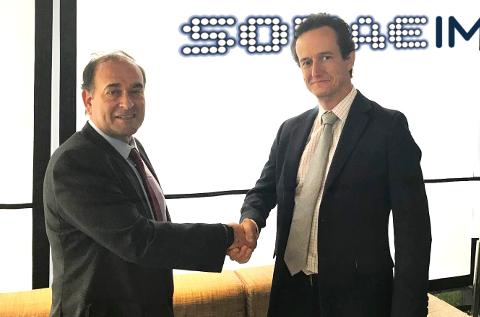 José Ramón Bazo, director general de Nextel y Agustín Muñoz-Grandes, CEO de S21sec.