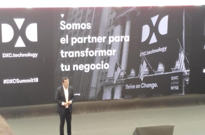 Juan Parra, Director General de DXC Technologies en España y Portugal, en el DXC Summit 2018.