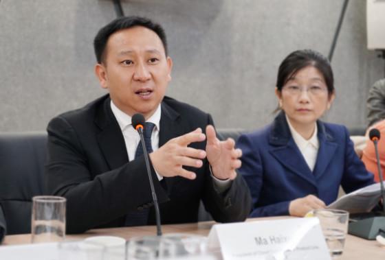 Ma Haixu, presidente de la Línea de Productos de Huawei Cloud Core Network, durante el lanzamiento de la plataforma.