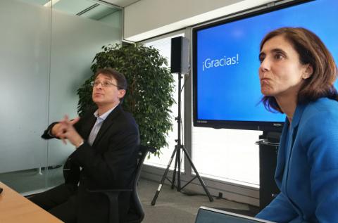 Jordi Ribas y Pilar López, de Microsoft.