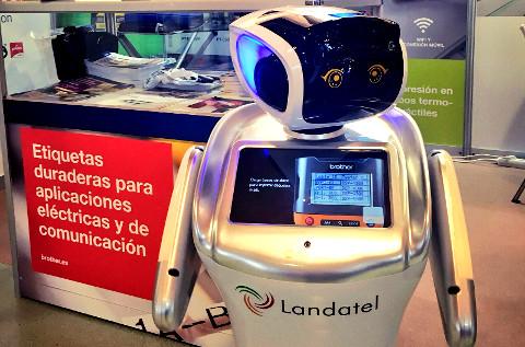 Robot humanoide Sanbot.