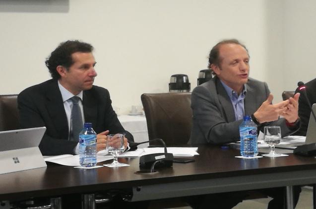 Juan José Martínez Pagán (a la derecha de la imagen) y Luis Manuel López Aenlle, de Autelsi