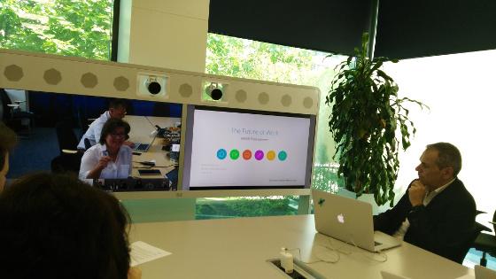 Michel Rodríguez, director de Colaboración en Cisco España, en la reunión virtual para hablar de colaboración.