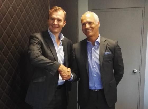 Meinrad Spenger, CEO de MásMóvil y Fernando Ojeda, consejero delegado de Eurona.