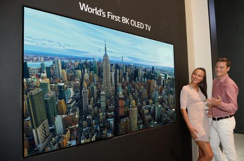Televisor 8K OLED TV de LG.