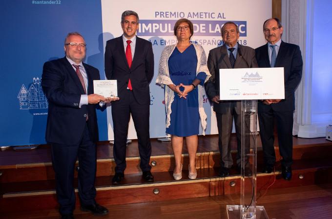 Entrega del Premio al Impulso de las TIC en la empresa española a Fira de Barcelona en #Santander32.