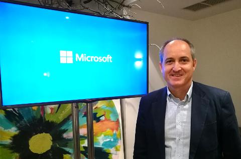 Rafael Sanz, director de canal de Microsoft.