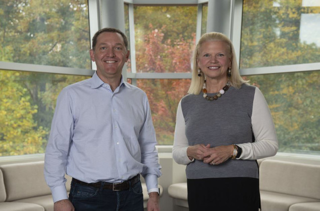 Ginny Rometty, CEO de IBM, y Jim Whitehurst, Presidente y CEO de Red Hat