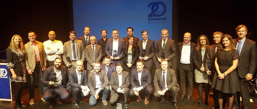 Foto familia Premios CHANNEL PARTNER 2018.