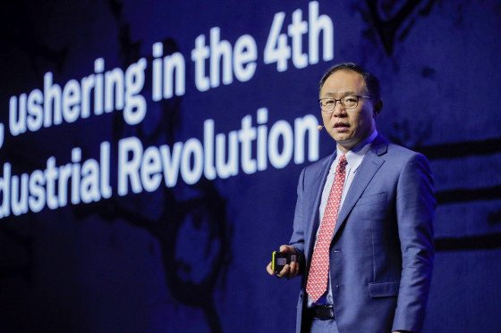 David Wang, director del Consejo Ejecutivo de Huawei, durante el Global Mobile Broadband Forum 2018.