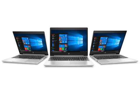 Portátiles de HP con Windows 10.