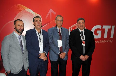 Parte del equipo directivo de GTI, con Hugo Fernández y Juan Pablo Rossi en el centro.