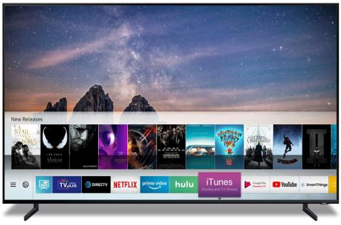 Televisor de Samsung con iTunes.