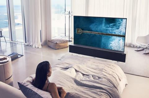 Televisor enrollable de LG.